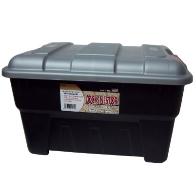 Edge Plastics 38 qt. Lock-N-Store Container.  Ends: Dec 19, 2014 12:10:00 AM CST