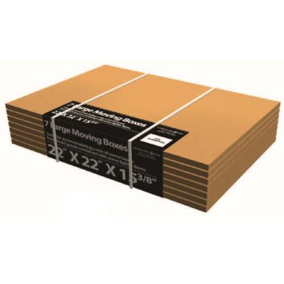 """Large Moving Boxes (22"""" x 22"""" x 15-3/8"""", 7 pack)"""