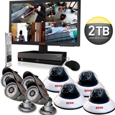 Revo 16 Channel Security System with 2TB Hard Drive & 8 High-Resolution 600TVL Cameras.  Ends: Jun 19, 2013 5:00:00 PM CDT