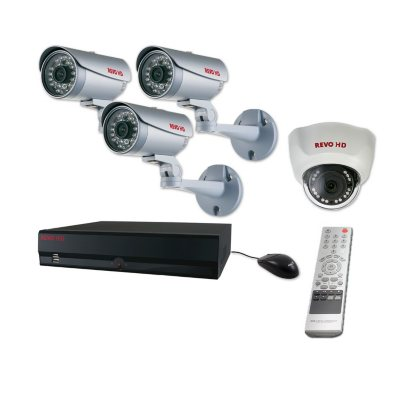 REVO 8 Channel HD Security System with 2TB Hard Drive, 3 2MP Bullet Cameras, 1 2MP Dome Camera, and 120' Night Vision.  Ends: Apr 27, 2015 12:00:00 PM CDT