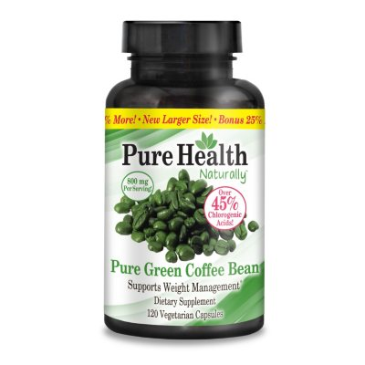 Pure Health Pure Green Coffee Bean Healthy Weight Management Dietary Supplement, 120 ct..  Ends: Dec 19, 2014 12:25:00 AM CST