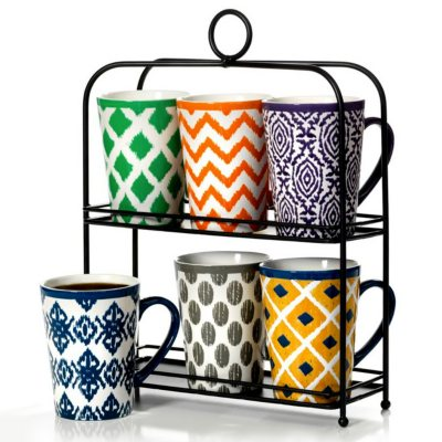 6-Piece Mug Set with Stand.  Ends: Nov 21, 2014 7:50:00 PM CST