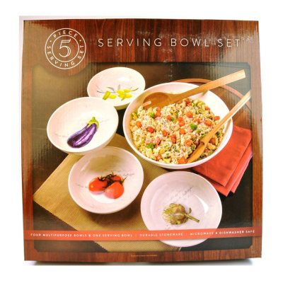 Pasta Serving Bowl Set, 5-Piece.  Ends: Nov 1, 2014 1:45:00 PM CDT