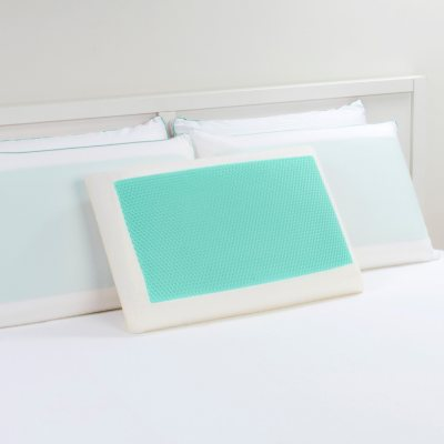 Dreamfinity Cooling Gel and Memory Foam Pillow, Blue.  Ends: Oct 31, 2014 5:00:00 AM CDT