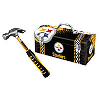 Pittsburgh Steelers Steel Hammer and Tool Box Combo