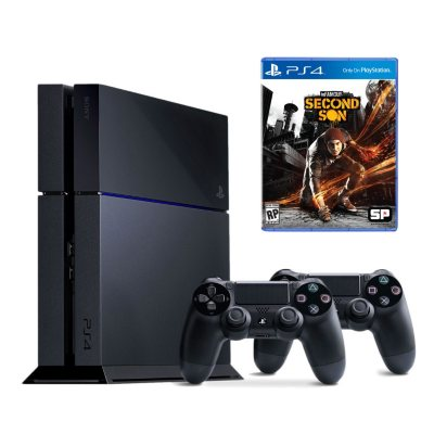 PlayStation 4 Console Bundle w/ Extra Controller and InFAMOUS: Second Son.  Ends: Sep 20, 2014 9:40:00 PM CDT