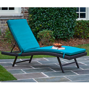 Sunbrella chaise lounge cushions blue auctions for Blue chaise cushions