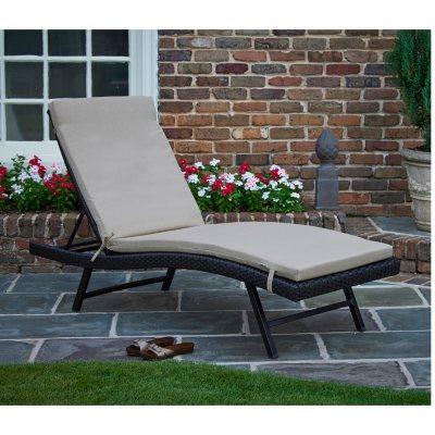 Sunbrella Chaise Lounge Cushions, Beige.  Ends: Feb 7, 2016 11:50:00 PM CST