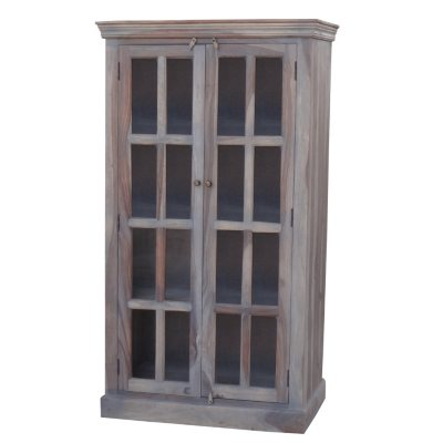 Handmade Distressed Windowpane Cabinet