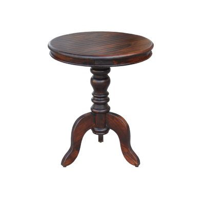 Round Accent Table, Walnut.  Ends: Mar 4, 2015 10:55:00 AM CST