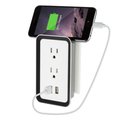 Sharper Image Plate Power USB Wall Plate Charger (2 pk.).  Ends: May 25, 2016 3:55:00 PM CDT