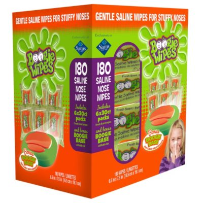 Boogie Wipes Saline Nose Wipes with Boogie Base (30 ct., 6 Refills).  Ends: Jul 5, 2015 9:00:00 PM CDT