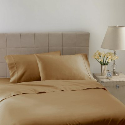 Hotel Luxury Reserve Collection 600 TC Sheet Set, Gold Solid (King).  Ends: Dec 18, 2014 4:00:00 AM CST