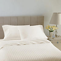 Hotel Luxury Reserve Collection 600 Thread Count Sheet Set, White Stripe (Queen)