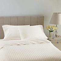 Hotel Luxury Reserve Collection 600 TC Sheet Set, White Stripe (King)