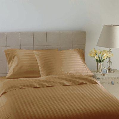 Hotel Luxury Reserve Collection 600 TC Sheet Set, Gold Stripe (King).  Ends: Dec 20, 2014 7:00:00 AM CST
