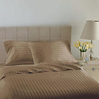 Hotel Luxury Reserve Collection 600 Thread Count Sheet Set, Latte Stripe (King)