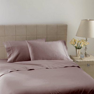 Hotel Luxury Reserve Collection 600 TC Sheet Set, Lilac Solid (Queen)