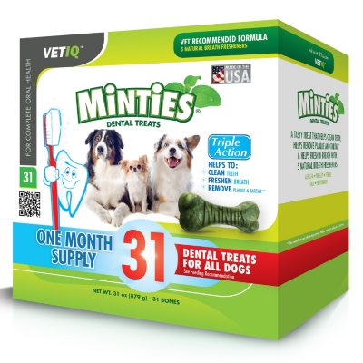 Vet IQ Minties Dental Treats for Dogs (27 ct.).  Ends: Mar 12, 2014 2:25:00 PM CDT