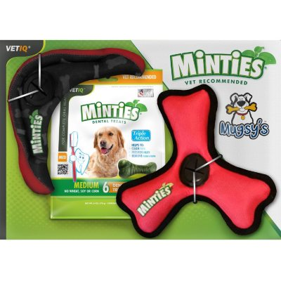Mugsy's All-In-One Dog Toy and Minties Dental Treats (3 pk.).  Ends: Mar 2, 2015 2:25:00 PM CST