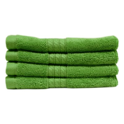 "100% Cotton Luxury Washcloth, Apple Green (13"" x 13"" - 2 pk.).  Ends: Oct 22, 2014 6:15:00 AM CDT"
