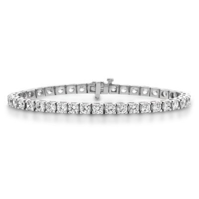 9.95 CT. T.W. Diamond Tennis Bracelet in 14K White Gold.  Ends: Mar 31, 2015 10:00:00 PM CDT