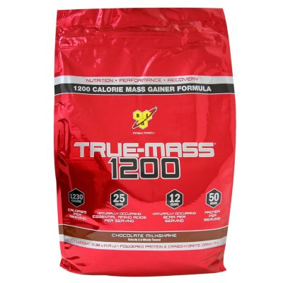BSN True-Mass 1200 Powdered Protein Drink, Chocolate (10.25 lbs.).  Ends: Jan 26, 2015 3:10:00 PM CST