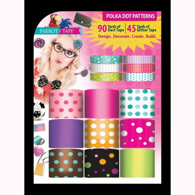 Parrot Designer Duct Tape, Polka Dot.  Ends: Nov 21, 2014 12:58:00 PM CST
