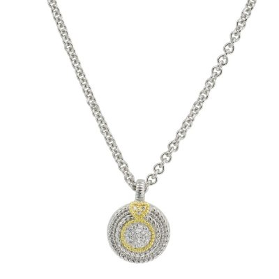 Judith Ripka Pave Diamond Circle Necklace (I, I1).  Ends: Oct 31, 2014 2:00:00 PM CDT