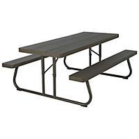 Lifetime 6' Folding Picnic Table, Faux Wood (Seats 8)