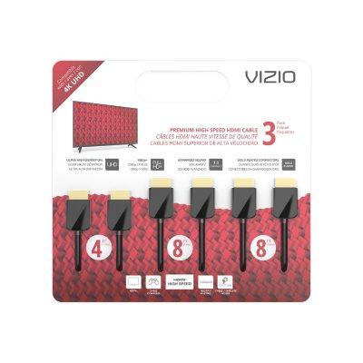 VIZIO M-Series TXCHMT-C2K High-Speed HDMI® Cable – 3 Pack (4', 8' & 8').  Ends: Jun 26, 2016 9:00:00 AM CDT
