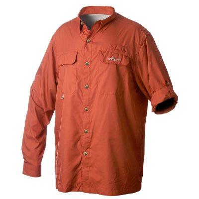 Habit Vented River Long-Sleeved Shirt, Orange (XXL).  Ends: Oct 31, 2014 2:40:00 PM CDT