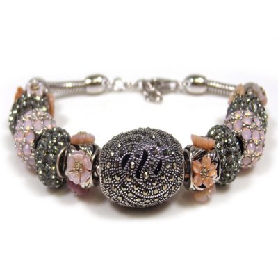 Marcasite Opal and Coral Bracelet.  Ends: Oct 31, 2014 10:06:00 PM CDT