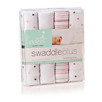 aden by aden + anais Swaddleplus Blanket, Pink (Girl, 4-pk.)