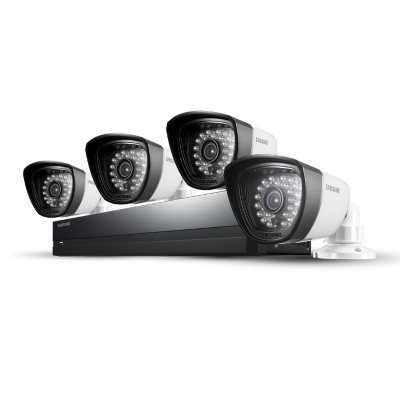Samsung 4 Channel 960H Security System w/ 500GB Hard Drive, 4 720TVL Weatherproof Cameras, and 82' Night Vision.  Ends: Apr 1, 2015 8:00:00 AM CDT