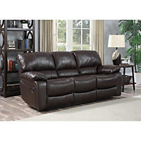 Marks and Cohen Redfield Leather Reclining Sofa