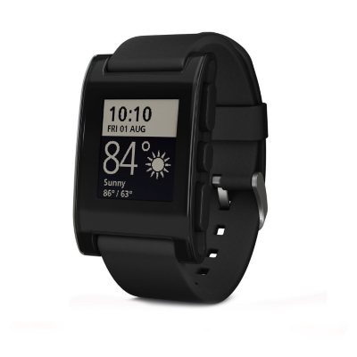 Pebble Smart Watch Black.  Ends: Jun 1, 2016 1:00:00 AM CDT