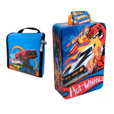 ZipBin Hot Wheels Bundle with 40 Car Tin & Hot Wheels Ramp Race.  Ends: Apr 18, 2014 10:45:00 AM CDT
