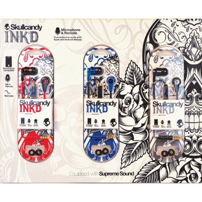 Skullcandy 3,Pack Ink'd Earbuds with Microphone.  Ends: Sep 2, 2014 8:35:00 PM CDT