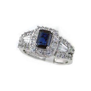 1 ct. Blue Sapphire &  White Sapphire Ring
