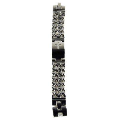 0.25 CT. T.W. Stainless Diamond Cross Bracelet.  Ends: Apr 25, 2015 11:00:00 AM CDT