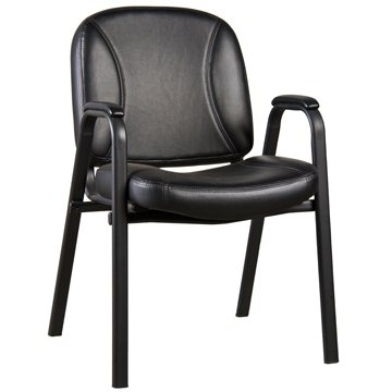 Loft Stacking Guest Chair, Black