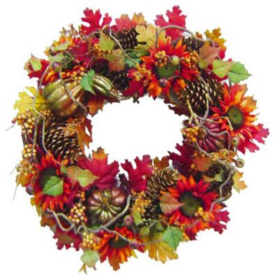 "Harvest Wreath 26"".  Ends: Apr 24, 2014 8:30:00 PM CDT"