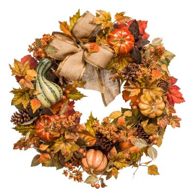 "26"" Harvest Designer-Style Wreath.  Ends: Nov 26, 2015 12:35:00 AM CST"