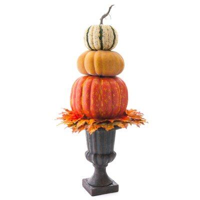 "40"" Harvest Urn Pumpkin Topiary Floor Piece.  Ends: Nov 25, 2015 6:35:00 PM CST"