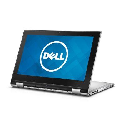 "Dell, 2-in-1 Convertible 11.6"" Touchscreen Laptop, Intel Pentium Processor, 4GB Memory, 500GB Hard Drive, Windows 10 - Silver.  Ends: Jul 26, 2016 3:00:00 PM CDT"