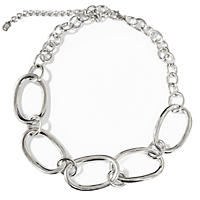 .925 Sterling Silver Link Collar Necklace