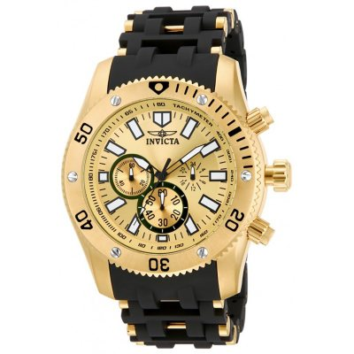 Invicta Sea Spider Gold/Black Quartz Watch