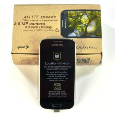 Sprint Samsung Galaxy S4 Mini, Black.  Ends: Sep 3, 2014 7:30:00 AM CDT