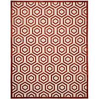 Safavieh Bahama Collection, Lattice Beige/Red 8X10